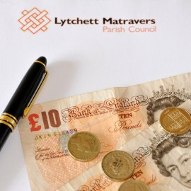 Image of money and parish council papers