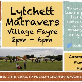 Date for your diary: Village Fayre 14th May