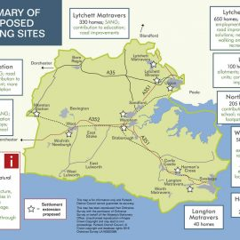 Summary map of proposed housing sits for local plan