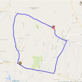 Map of diversion route for Colehill Road Closure