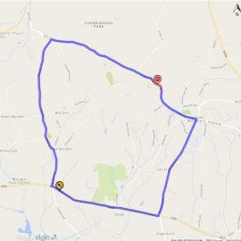 Colehill Road Closure Map