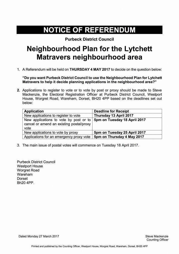 LMNP Notice of Referendum