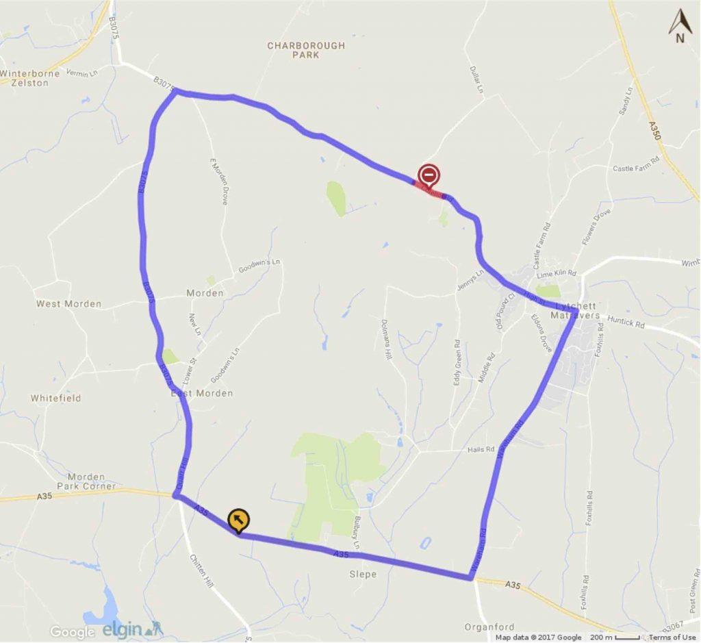colehill road closure