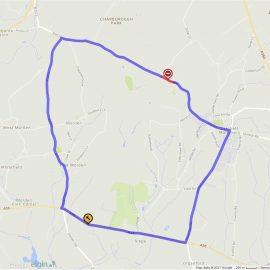map of colehill road closure diversion