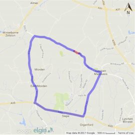 map of diversion for colehill road closure