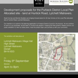 Land North of Huntick Road, public exhibition and stakeholder preview on development proposals