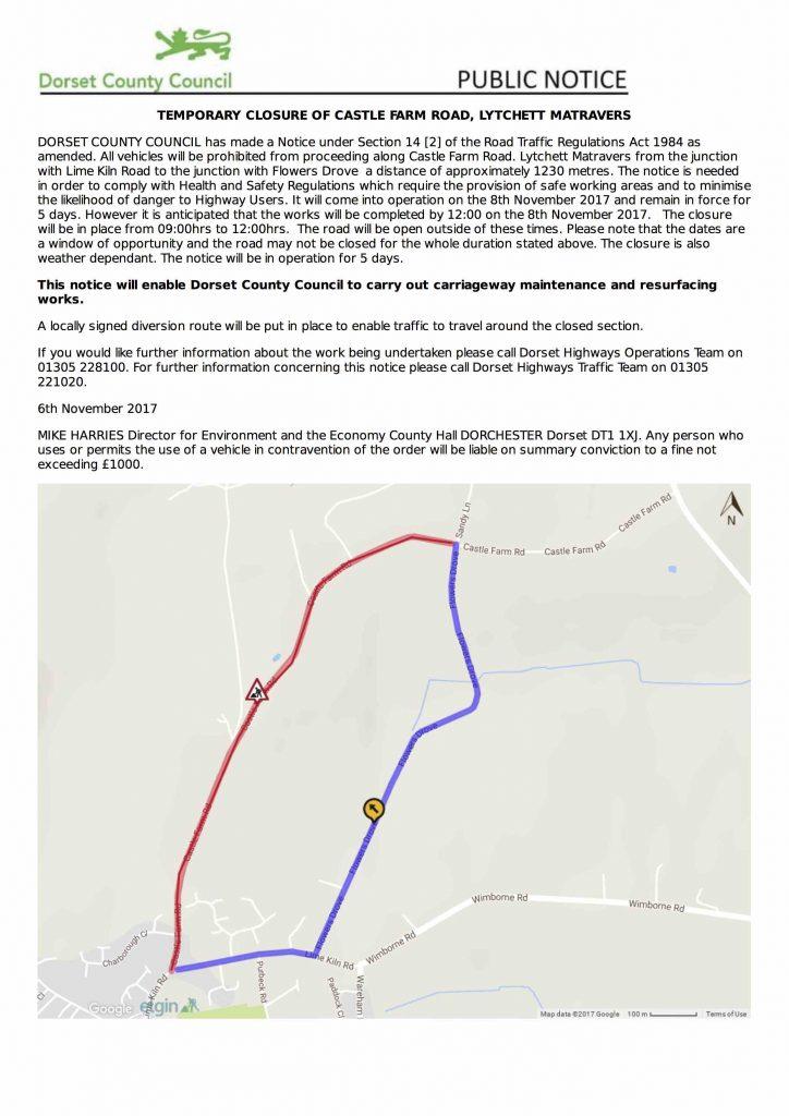 622.17 Castle Farm Road, Lytchett Matravers