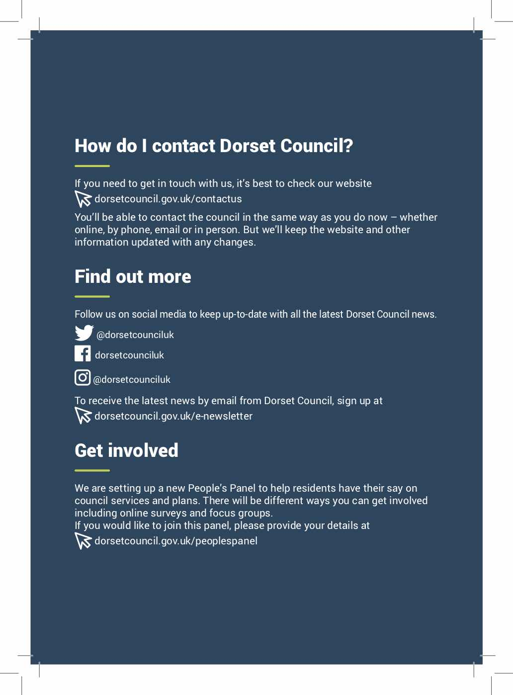 Changes to Dorset Councils from 2019