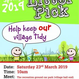Help keep our village tidy – Litter Pick 2019