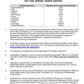 Notice of elections for Lytchett Matravers Parish Council