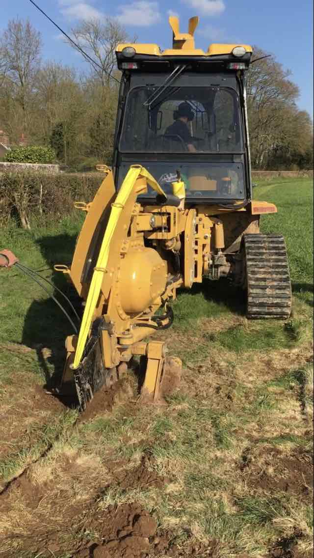 fibre is being mole-ploughed to Lytchett matravers