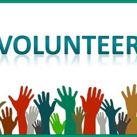 Graphic for hands to represent volunteers