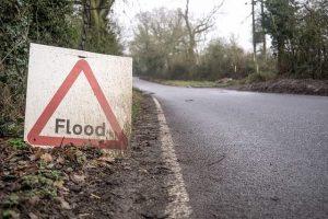 Dorset road drainage flood sign