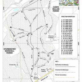 Consultation on an application to add rights of way to the definitive map in Stony Down Plantation, Corfe Mullen