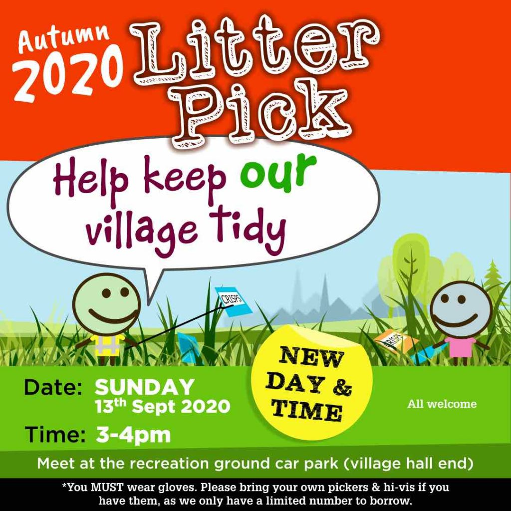 Image of the Autumn 2020 Litter Pick (links through to the image)