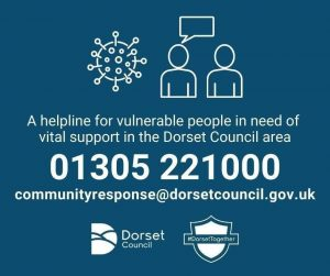 Image with details of the vulnerable support line from Dorset Council