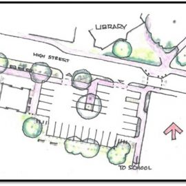Artists impression of the village centre changes