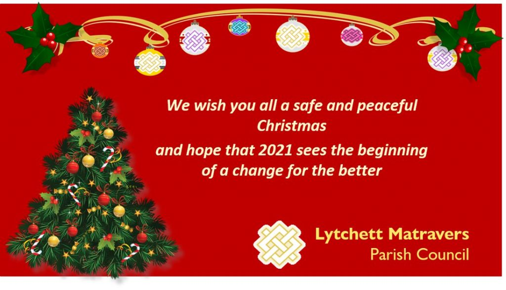 Graphic wishing everyone a safe and peaceful Christmas