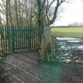A photo of the new walk to school gate