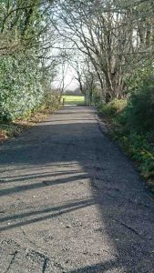 A photo of the new walk to school path from the Rec