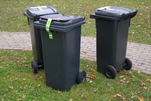 Image of some wheelie bins for decorative use