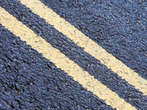 image of double yellow lines on road