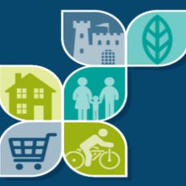 Decorative image showing local plan logo