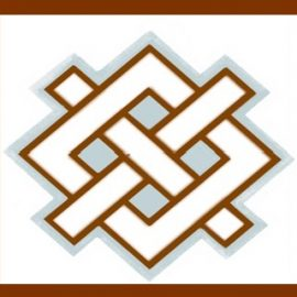 Parish Council logo with brown background