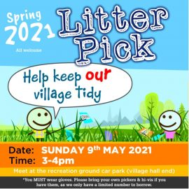 Poster with details of the litter pick (covered by text of post)