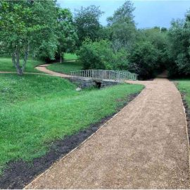 Decorative image showing the new Foxhills paths
