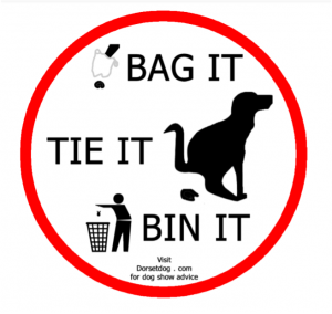 Poster giving instructions on disposal of dog waste - Bag It, Tie it, Bin it