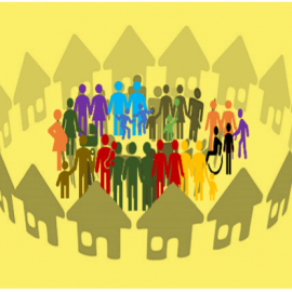 Decorative image showing people in a group